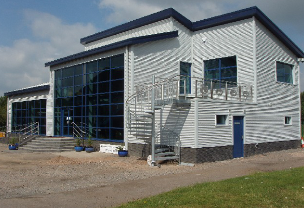 Farndon Marina's new office 2008