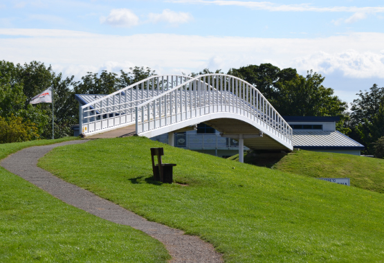 Farndon Marina's privately owned bridge