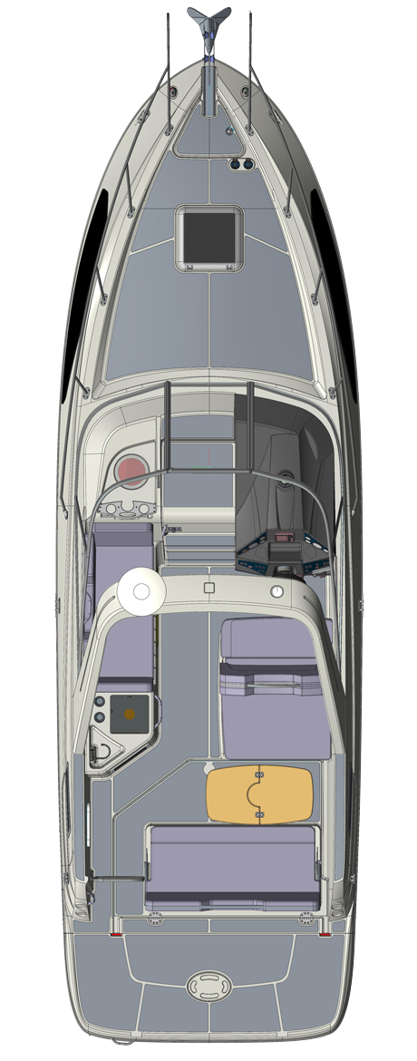 Bayliner Ciera 8 available at Farndon Marina Floorplan